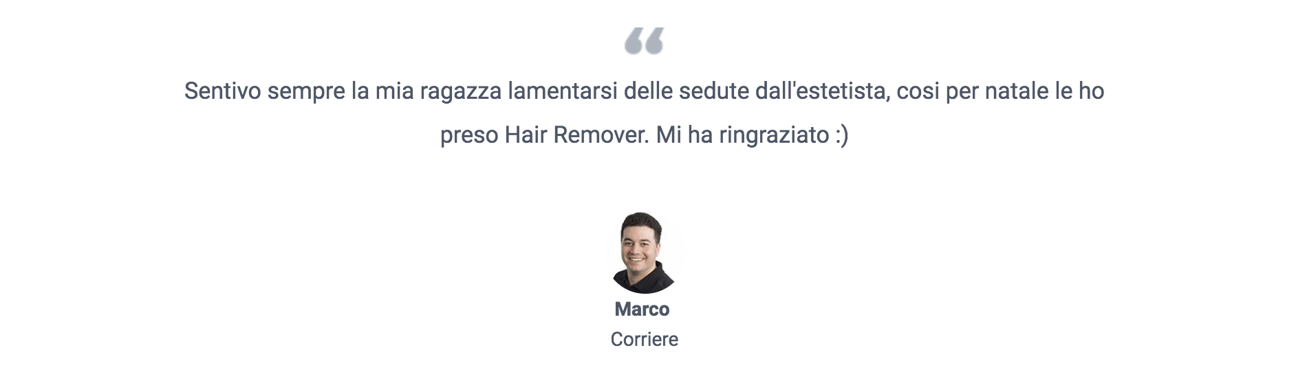 hair remover recensione 1